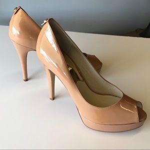 Michael Kors patent leather nude heels